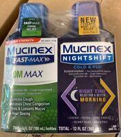 Mucinex FastMax DM Daytime And NightShift Cold & Flu Liquid 2 Pack 6oz Each-2021