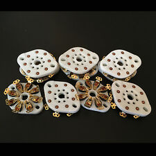 10Pcs 8Pin Gold Plated Vacuum Tube Socket Valve Base For EL34 6550 KT88GZC8-NS-G