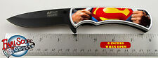 """Superman Tactical Knife Limited Edition Spring Assisted Knife 4.5"""" when closed"""