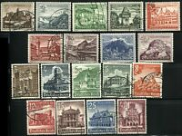 GERMANY #B160-B168 #B177-B185 Deutsches Reich Stamps Postage Collection USED