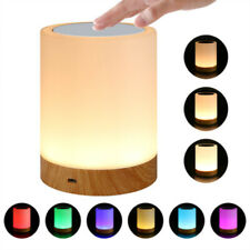 LED Rechargeable Dimming Night Light RGB Desk Bedside Table Touch Lamp Home Use