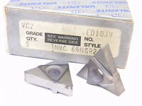 NEW SURPLUS 5PCS. VALENITE  TNMC 66NGR W.293  GRADE: VC2  CARBIDE INSERTS