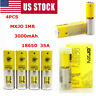 2/4x MXJO- IMR 1865-0 3000mAh Li-Ion Rechargeable Batterry High Drain 35A 3.7V