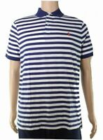 Polo Ralph Lauren Mens Shirt Blue Size Medium M Striped Polo Rugby $79- 297