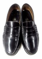 TOWNCRAFT LOAFERS BLACK LEATHER MEN'S DRESS SHOES SIZE 9.5 M