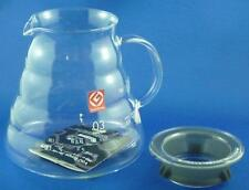 HARIO V60 RANGE COFFEE SERVER 800ml 03, CLEAR GLASS, 2-6 Cups XGS-80