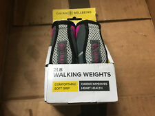Gaiam Walking Weights Soft & Moldable for Secure Hold Comfortable 2lb Set New