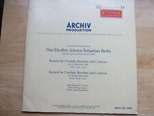 Kirkpatrick BACH Harpsichord Con1&2 ARCHIV DGG SAPM 198013 Red Stereo Sticker NM