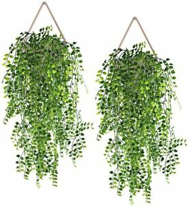 2 Pack Artificial Hanging Vines for Home Décor Fake Plants Faux Greenery Wedding