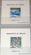 Monaco 1992 Maury BS 17-18 2052-53 sd Olympics Barcelone Albertville soccer MNH