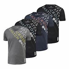 Mens T-Shirt Crosshatch V Neck Short Sleeve Summer Botein T-Shirt Graphic Casual