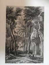 C.1830 impression de Netley Abbey looking east, Southampton, Hants