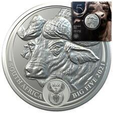 Südafrika - 5 Rand 2021 - Big Five Serie (5.) - Büffel - 1 Oz Silber ST