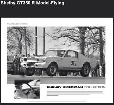 1965 Shelby GT-350R Model Flying& Racing Set! 1st On eBay FREE SHIP! Car Poster!