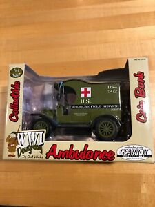 Gearbox WWI Doughboy 1912 Ford Model T Ambulance Coin Bank