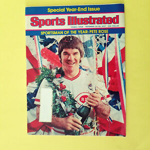 SPORTS ILLUSTRATED - DECEMBER 22-29, 1975 - PETE ROSE - GREAT FOR AUTOGRAPHS