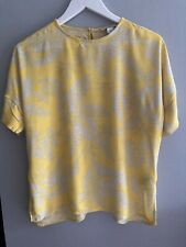 H&M Yellow Shirt With Palm Print Sz 38/10