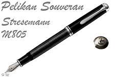PELIKAN M805 / M800 SOUVERAN Stresemann Fountain Pen, F,M or B nib, BOXED NEW