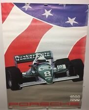 Original vintage 1988 Porsche Indy race Car Dealer Showroom poster 30x40 Racing