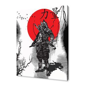 JAPANESE WARRIOR SAMURAI MODERN CANVAS PRINT WALL ART PICTURE