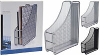 DOCUMENT OR FILE MESH MAGAZINES PAPER HOLDER DESK ORGANIZER FOR OFFICE OR HOME
