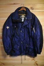Vtg Descente Jacket Coat XL Blue Ski Retro Shiny