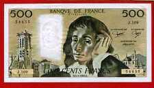 (Ref: J.109) 500 FRANCS PASCAL 3/04/1980 (SPL)