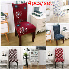 4pcs/Set Chair Cover for Dining Room Wedding Banquet Stretch Spandex Party Decor