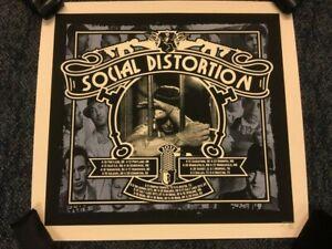 SOCIAL DISTORTION SILKSCREEN 2012 TOUR CONCERT POSTER SIGNED BY ARTIST NEW