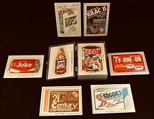 Fleer Crazy Cards 1979 - 1 thru 64 - 2 sided - Crazy Brands - Mint Condition
