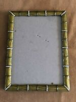 Green Bamboo Enamel jeweled table top picture photo frame 4.5 x 6.5""