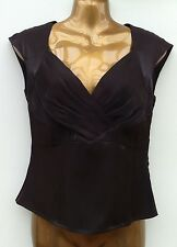 NWOT ALEX & CO. Silky Shimmery Chocolate Top Size 8 Formal Occasion Evening