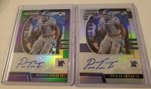 2020 Prizm 2 Card Lot Patrick Taylor Jr Silver Green Refractor #/199 RC Packers