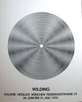 LUDWIG WILDING -  Kinetische komposition. Ausstellungsplakat. 1970.