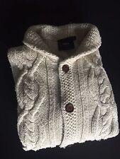 ASOS Cardigan Gr. L Creme Beige Strickjacke Pullover Grob Designer Knit wear top