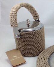 Tommy Bahama Ice Bucket Un Used With Tag Natural Rope Nautica Bar Wear