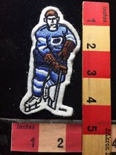 Embroidered Felt HOCKEY Player Patch BLUE Jersey Version 732