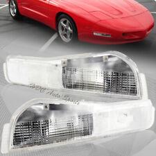 For 1998-2002 Pontiac Firebird Chrome Housing Turn Signal Parking Bumper Lights