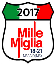 Mille Miglia car motorcycle sticker italy race rally