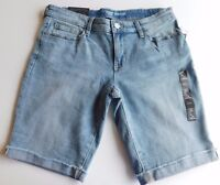 "NWT Gap Women's Stretchy Bermuda 12"" Shorts Blue Denim Size 2 New Free Shipping"