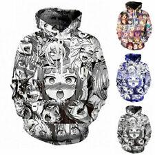 Ahegao Anime cara Hentai Manga Sudadera Hombre 3D Jumper Hoodie T Shirt Jogger