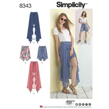 Simplicity Sewing Pattern 8343 SZ14-22 Misses Wrap Front Skirt Shorts 2 Lengths