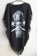 Chucky Childs Play Horror Film Fashion Women's Poncho Long Tassel T-Shirt Dress