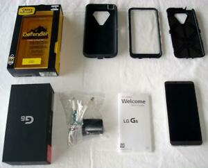 T-MOBILE LG G6 SMARTPHONE 32G IN BOX UNLOCKED OTTERBOX NO SCRATCHES