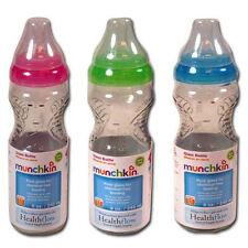 3 Munchkin Mighty Grip 8oz Glass Bottles BPA free Boy Blue Green NEW