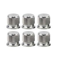 6PCS Guitar Bass Amplifier Control Knobs Effect Pedal Knobs Aluminum Knobs