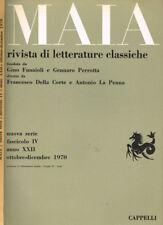 MAIA. RIVISTA DI LETTERATURE CLASSICHE n.s. anno XXII fasc.IV