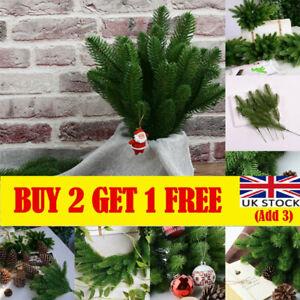 10Pcs Artificial Pines Fake Home Christmas Decor Greenery Pine DIY Craft UK