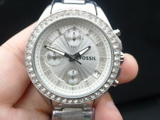 NEW OLD STOCK FOSSIL ES2681 CHRONOGRAPH DATE STAINLESS STEEL QUARTZ WOMEN WATCH