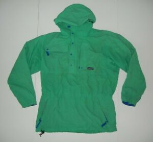 PATAGONIA Mint Green Nylon WINDBREAKER JACKET Pullover Hiking Rain Coat Sz Men M